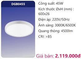 ĐÈN LED PANEL ỐP TRẦN SIÊU MỎNG Ø600 45W DUHAL DGB0455 – ĐÈN DUHAL, ĐÈN LED  DUHAL