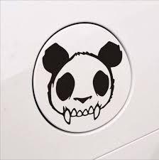 Buy 1pc 14 13cm High Quality Panda Skull Zombie Sticker Panda Vinyl Decal Car Stickers Evil Dead Car Sticker Reflective Car Styling Kikuu Senegal