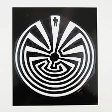 Man In The Maze Window Decal