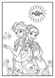 Elsa Anna Kleurplaat Uitprinten Op Kleurplaat Frozen I 2020