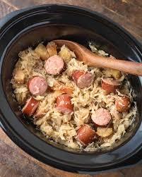 slow cooker sauer and kielbasa