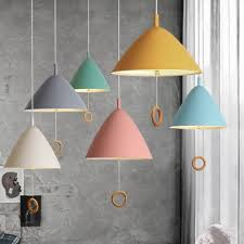 colorful macaron metal hanging lamp