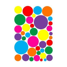Multicolored Random Sized Rainbow Polka Dot Wall Decals Stickers Nursery Or Playroom Polka Dot Wall Decor In Hot Pink Purple Red Green Yellow Orange And Blue Dot Wall Stickers Walmart Com