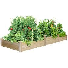tall tieres cedar raised garden bed