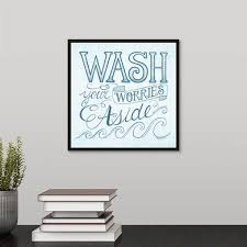 Shop Wash Your Worries Away Black Float Frame Canvas Art Overstock 25512057