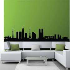 Tokyo Japan Landmarks Wall Sticker Skyline Wall Art Living Room Background Wall Stickers Home Decor Drawing Room Wall Decals Decor Decorative Keyboard Stickersdecorative Glass Stickers Aliexpress