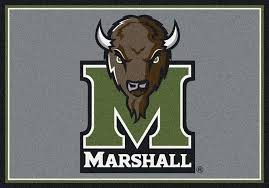 marshall thundering herd area rug