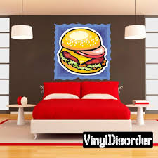 Burger Sticker Vinyl Wall Decals Wall Decals Home Decor