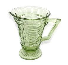 sowerby art deco green depression glass