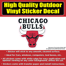 Chicago Bulls Basketball Vinyl Car Window Laptop Bumper Sticker Decal Colorado Sticker