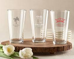 pint glass 16 oz wedding favors
