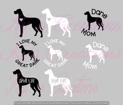Great Dane Car Window Decals Dane Decal Vinyl Decal Etsy