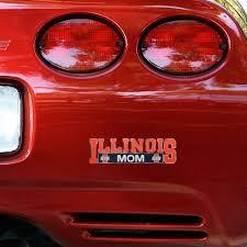 Illinois Fighting Illini Mom Car Decal