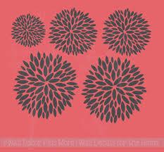 Flower Burst Vinyl Decals Stickers For Kitchenaid Mixer Decoration