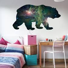 Space Bear Wall Decal By Chromantics Bear Silhouette Mural