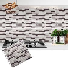 Self Adhesive Mosaic Tile Wall Decal Sticker Diy Kitchen Bathroom Home Decor Vinyl W3 Decorative Vinyl Wall Decals Stickershome Decor Aliexpress