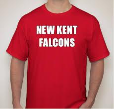 New Kent Falcons Football and Cheerleading Custom Ink Fundraising