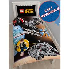 lego star wars space single quilt cover