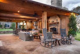 outdoor kitchen outdoor fireplace