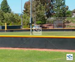 Yellow Fence Topper Cap For Baseball Outfield Fences