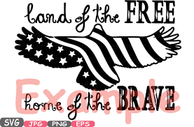 land of the home of the brave quote silhouette svg