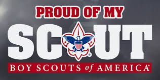 Proud Of My Scout Decal Boy Scouts Of America