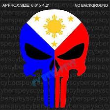 Philippine Flag Punisher Style Design Drift Racing Stickers Car Vinyl Decals Jdm Ebay