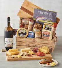 artisan meat cheese and wine gift