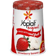 yoplait original strawberry banana low