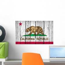 California State Flag Grunge Wall Decal By Wallmonkeys Peel And Stick Graphic 18 In W X 11 In H Wm36766 Walmart Com