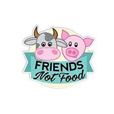 Buy Meganjdesigns Friends Not Food Sticker Vegan Vegetarian Car Decal Laptop Decal Animals Rights Cute Farm Cow Pig Cruelty Free Meat Free Bumper Sticker In Cheap Price On Alibaba Com