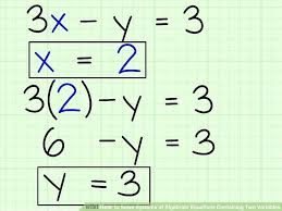 solve math equation with 2 variables