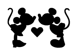 Minnie And Mickey Mouse Kissing Decal Disney Mickey Decal Etsy