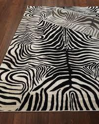 dariya power loomed zebra rug 3 9 x 5