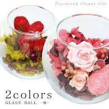 glass bowl rose arrangement medium size