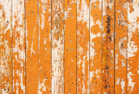 Orange Flaky Paint On A Wooden Fence Stock Photo Picture And Royalty Free Image Image 23405003