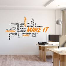 Make It Wall Decal Motivational Art Office Wall Art Office Wall Decal Office Wall Decor Office Decals Office Wall Sticker Quote Office Wall Decals Office Wall Design Office Wall Decor