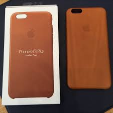 iphone 6 6s plus saddle brown leather