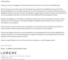 is lumene free ethical bunny