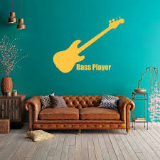Music Wall Decor Bass Vinyl Decor Wall Decal Customvinyldecor Com