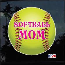 Softball Mom Full Color Decal Sticker Custom Sticker Shop