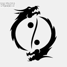 Volkrays Personality Car Sticker Buddhism Yin Yang Symbol Asian Dragons Accessories Sunscreen Vinyl Decal Black Silver 13cm 11cm Car Stickers Aliexpress
