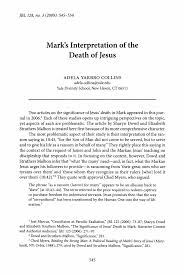 Mark's Interpretation of the Death of Jesus