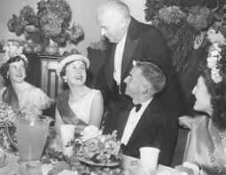 Photograph - 1956 Ringwood Pre-School Queen Carnival Ball. Miss Dawn  Schubert (Miss Holeproof Ltd.), Miss Ann Hardy (Miss Alan Coffey Motors  Pty. Ltd.) and Miss Effie Kelly (Miss Acorn Gowns Ltd.) -
