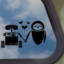 Disney Black Decal Wall E Eve Robot Love Buy Online In Bahamas At Desertcart