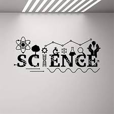 Amazon Com Wall Art Decor Decals Removable Mural Science Wall Decal Logo Decal School Classroom Classroom Decoration Chemistry Wall Art Art Decor Home Decor Wall Sticker Home Kitchen
