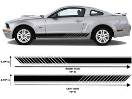 Product Chevrolet Camaro Ford Mustang Side Stripes Decals Vinyl Car Truck Graphics