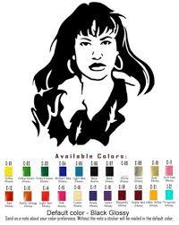 Selena Vinyl Decal Sticker Car Window Art Music Fashion American Singer Actress Silhouette Stencil Selena Vinyl Decals