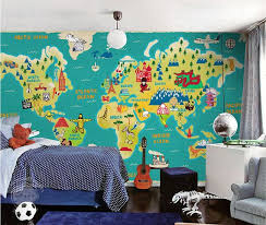 All Sizes Children S World Map Wallpaper Wall Decal Art Children S Room Study Room Ocean Wall Paper Blue Gr Map Wallpaper World Map Wallpaper Kids World Map
