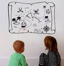 Pirate Wall Decal Treasure Map Wall Art Decor Decals Market